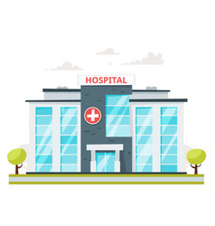medical hospital building vector image vector image