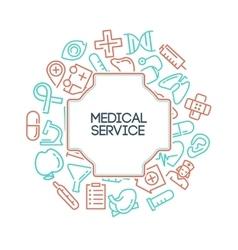 Medical service background vector image