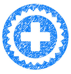 Medical stamp grunge icon vector