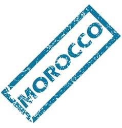 Morocco rubber stamp vector