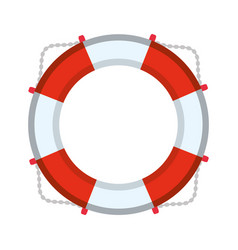 nautical life ring vector image