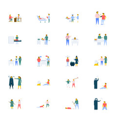 People icons pack in flat design vector