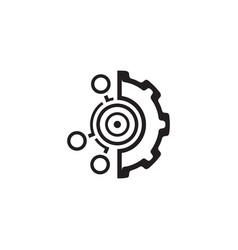 Set up goals icon flat design vector