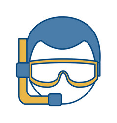 Snorkel equipment icon vector