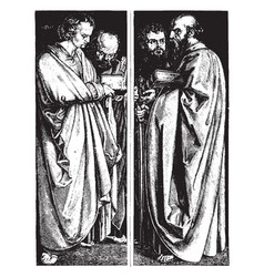 St john and st peter st paul and st mark in the vector
