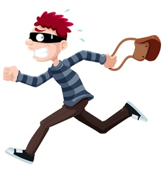 Thief running vector image vector image
