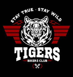 tiger and wings - logo graphic design logo vector image