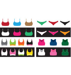 top and shorts set vector image