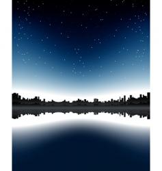 urban skyline night vector image vector image
