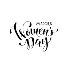 women day phrase vector image vector image