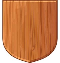 Wooden plaque vector