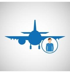 Travel concept passenger traveler hotel vector