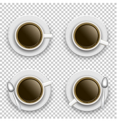 set coffee cup above vector image