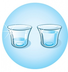 Shot glass with clear water vector