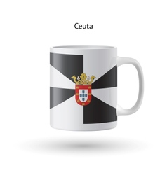 Ceuta flag souvenir mug on white background vector