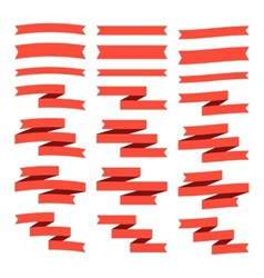 Set of flat ribbons vector