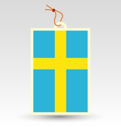 Swedish made in tag vector