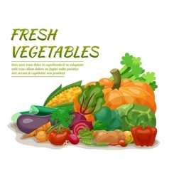 Fresh vegetables vector