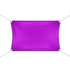 Purple blank empty horizontal rectangular banner vector