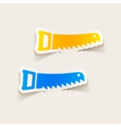 Realistic design element hand saw vector