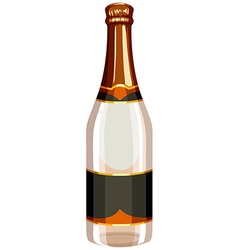 Champagne bottle with label vector