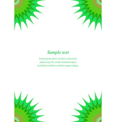 Green star page corner design template vector
