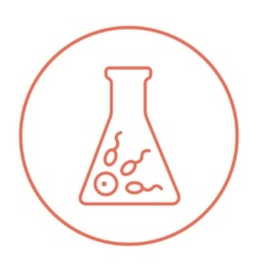 In vitro fertilisation line icon vector