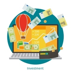 Financial investment concept vector