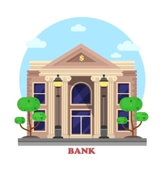 Financial building or bank architecture exterior vector
