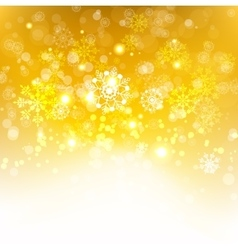 Gold winter background vector