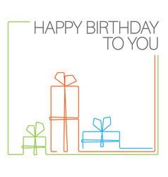 birthday minimalistic card template vector image