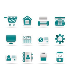 business and website icons vector image vector image