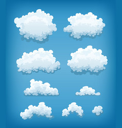 Clouds set on blue sky background vector