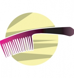 comb vector image vector image