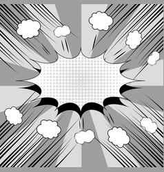 Comic book monochrome background vector