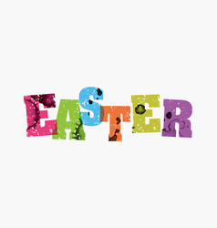 Easter concept stamped word art vector