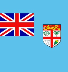 flag of fiji vector image vector image