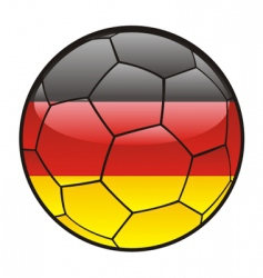 Flag of germany on soccer ball vector
