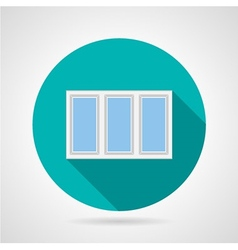 Flat icon for triple plastic window vector image