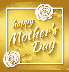 greeting card-happy mothers day vector image