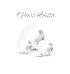 grey glass sphere vector image