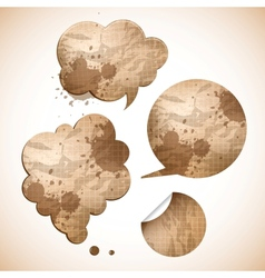 grungy paper speak bubbles vector image vector image