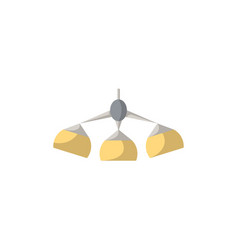 hanging lamp isolated icon in flat style vector image