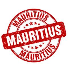 Mauritius red grunge round vintage rubber stamp vector