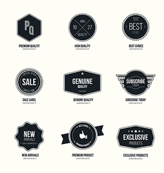 mimalistic flat labels vector image vector image
