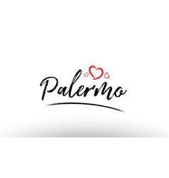Palermo europe european city name love heart vector