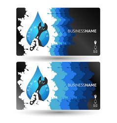 Plumbing business card design vector
