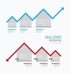 Real estate graph design infographic concept vector