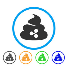 Ripple shit rounded icon vector