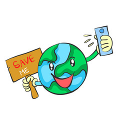Save earth from environment doodle vector